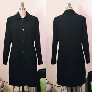 J. Crew black Italian wool coat